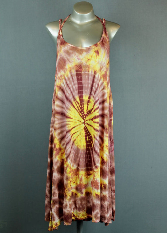 Tie dye slip dress