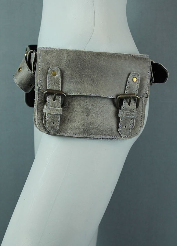 Two Pocket Buckle Belt bag