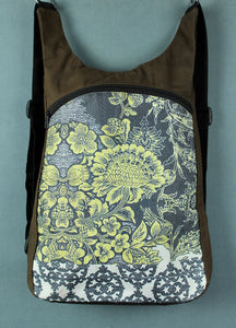 Funky backpack - yellow flower