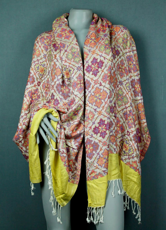 Shawl scarf - peach orange cream
