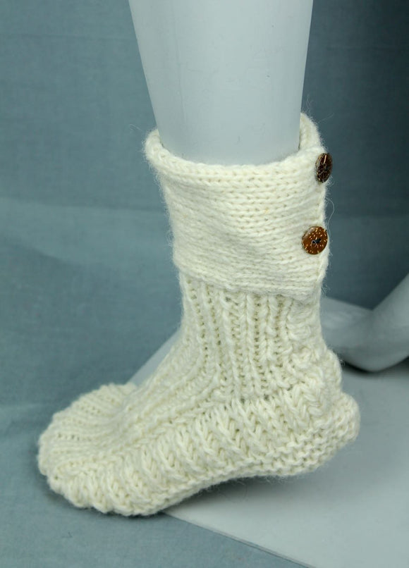 Wool bootie socks