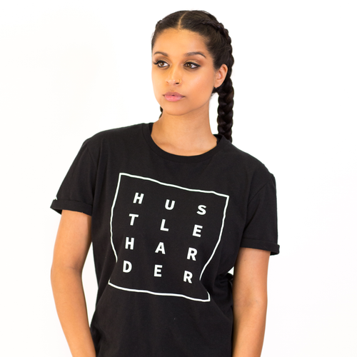 Hustle Harder T-Shirt - Black