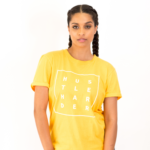 Hustle Harder T-Shirt - Mustard Yellow