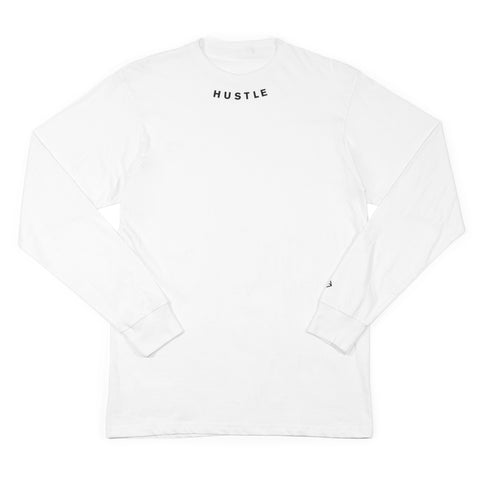 Conquer Side Rolled Sleeve Tee - White