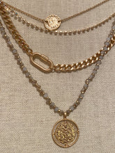 COIN & CHAIN LAYERED CHAIN NECKLACE
