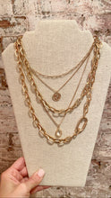 CHUNKY MULTI STRAND CHAIN NECKLACE