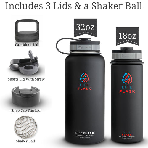 32oz Life Flask Insulated Water Bottle