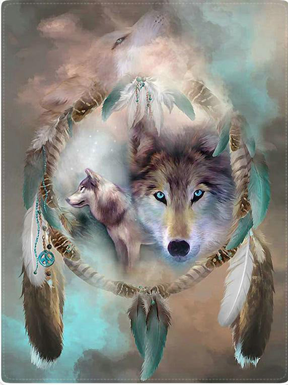 Indian WOLF Dream Blanket