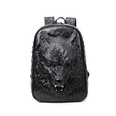 3D Wild Wolf Backpack