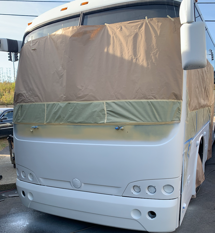 buses being painted