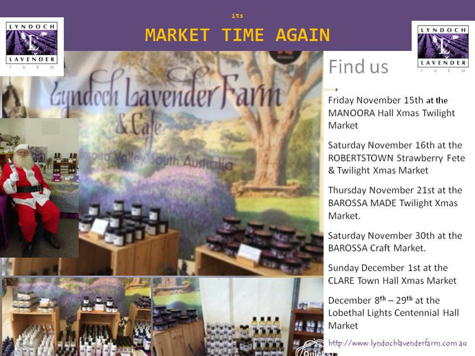 Markets Lyndoch Lavender Farm is attending in the coming months