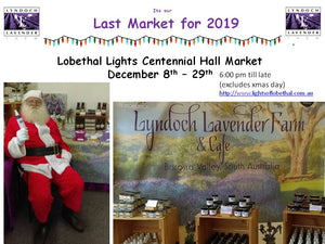 Its the Last Market Lyndoch Lavender Farm attending 2019  - Lobethal Lights