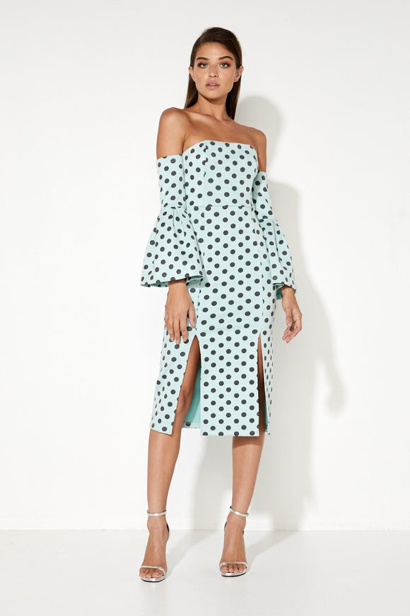 THE WILD ONE MIDI DRESS POLKA DOT