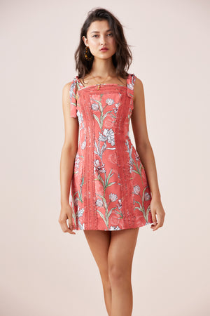 ROTATION MINI DRESS MELON FLORAL