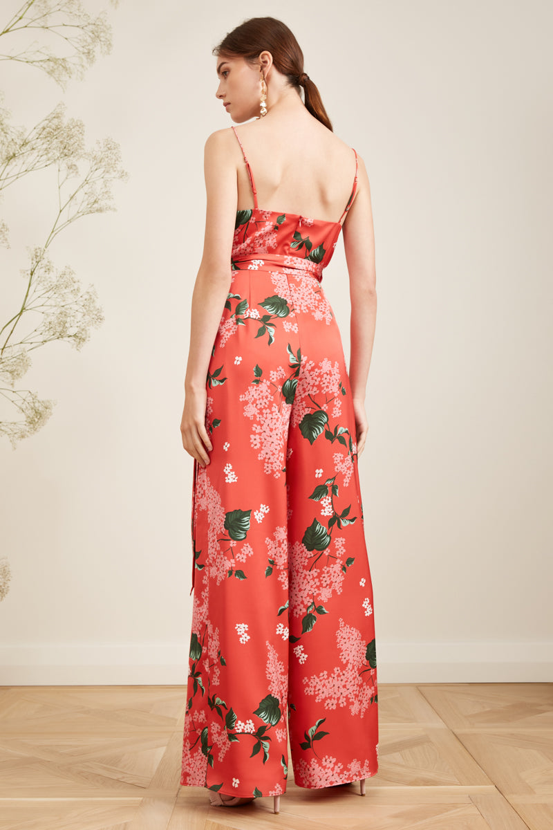 THIS MOMENT JUMPSUIT POP RED FLORAL