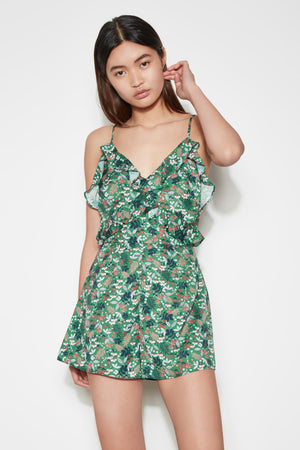 VIRIDIAN PLAYSUIT JADE FLORAL BLOOM