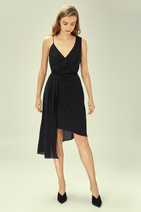 DREAMLOVERS MIDI DRESS BLACK