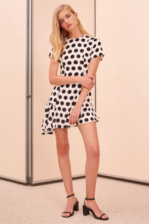 UNENDING SS MINI DRESS IVORY SPOT