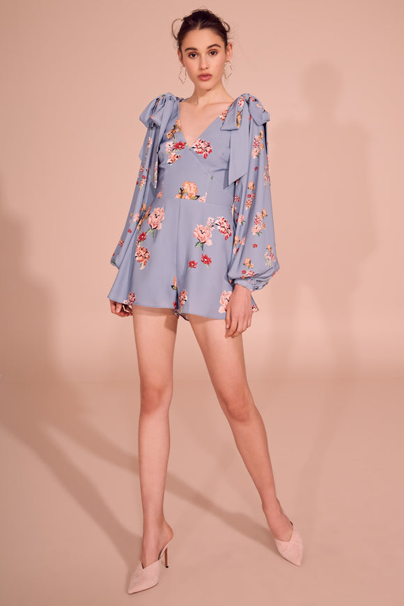 EVOLVE PLAYSUIT BLUE SCATTER FLORAL