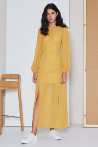 RHYTHM LS DRESS MUSTARD