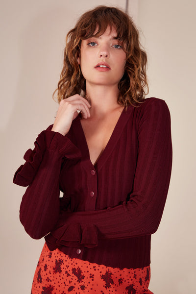ENVISION KNIT TOP BURGUNDY