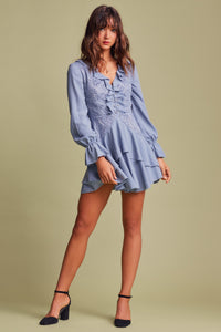 SUNSEEKER LS DRESS CORNFLOWER BLUE