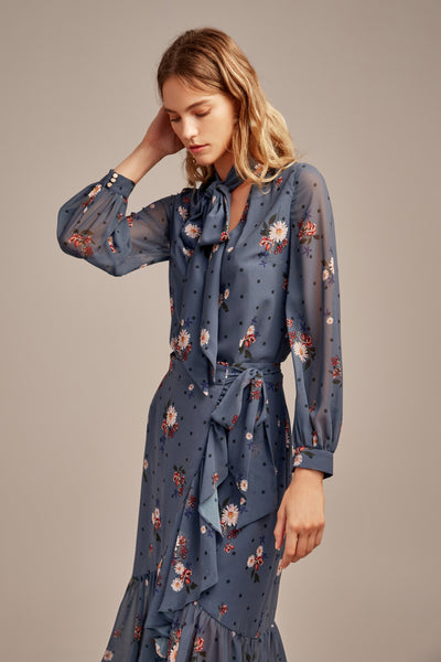 RUN FREE LS TOP MIDNIGHT FLORAL