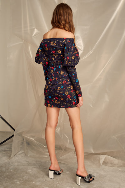 ACCOLADE LS DRESS NAVY FLORAL