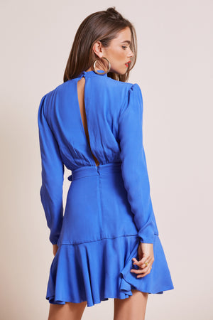 BLOOM MINI DRESS COBALT