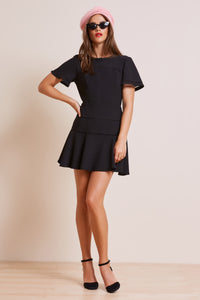 IMMORTAL BLACK MINI DRESS