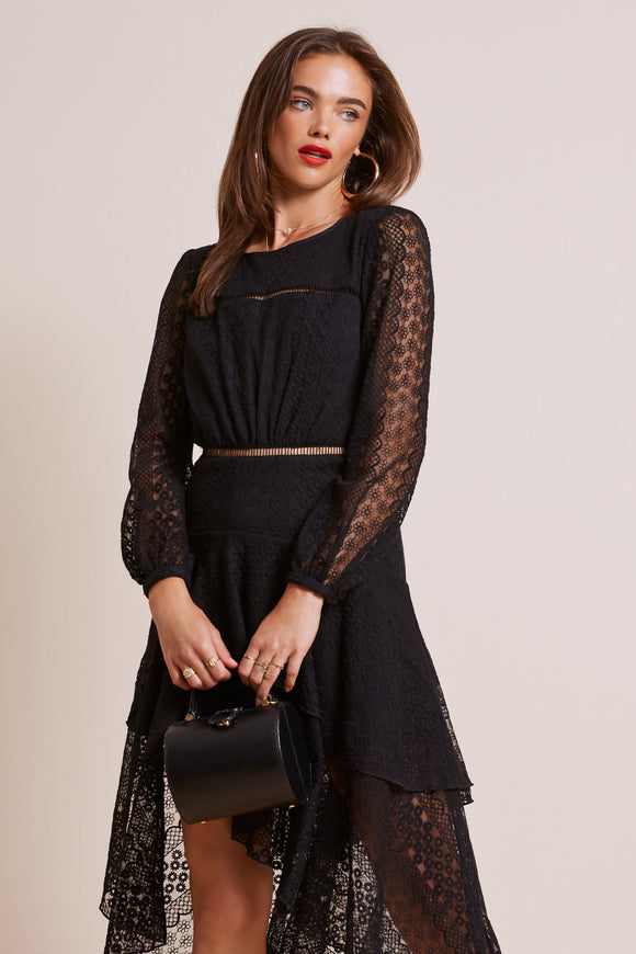 NIGHTLIGHTS LS BLACK DRESS