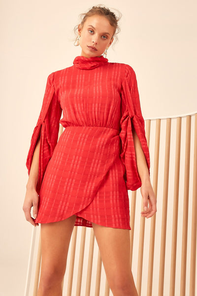 HEART BREAKER LS DRESS CHILLI
