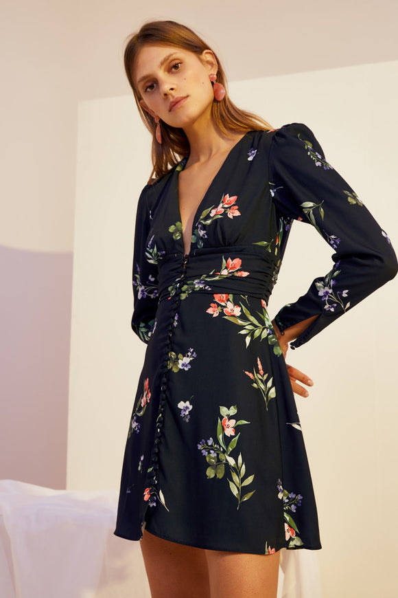 GLORY LS DRESS NAVY FLORAL