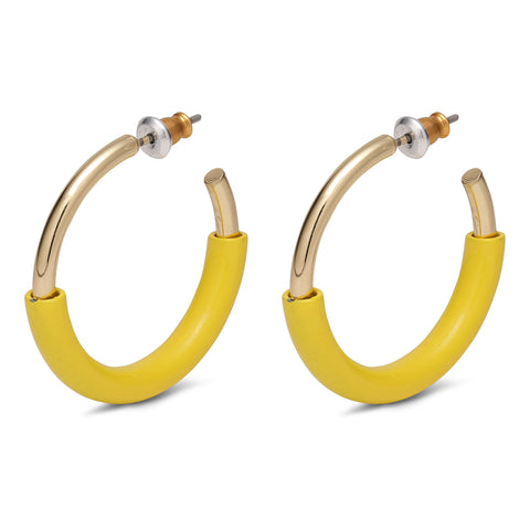 EARRINGS : GOLD PLATED YELLOW