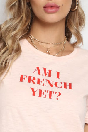 RUNAWAY THE LABEL – AM I FRENCH YET TEE PINK/RED
