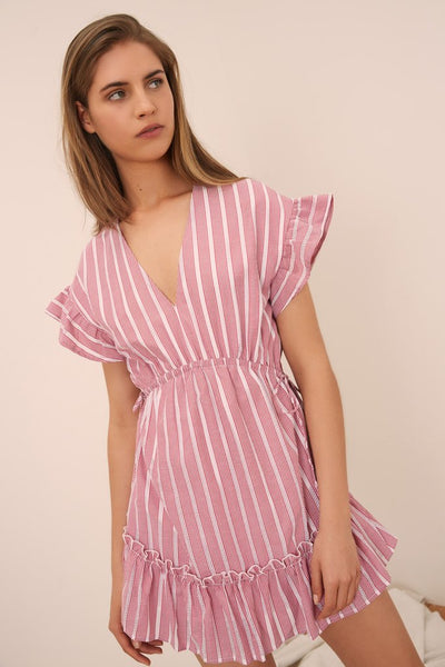 KITE STRIPE DRESS RED/WHITE