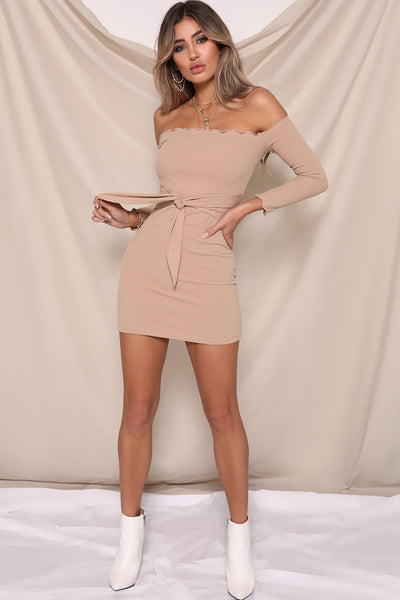 JENNIFER MINI DRESS TAN