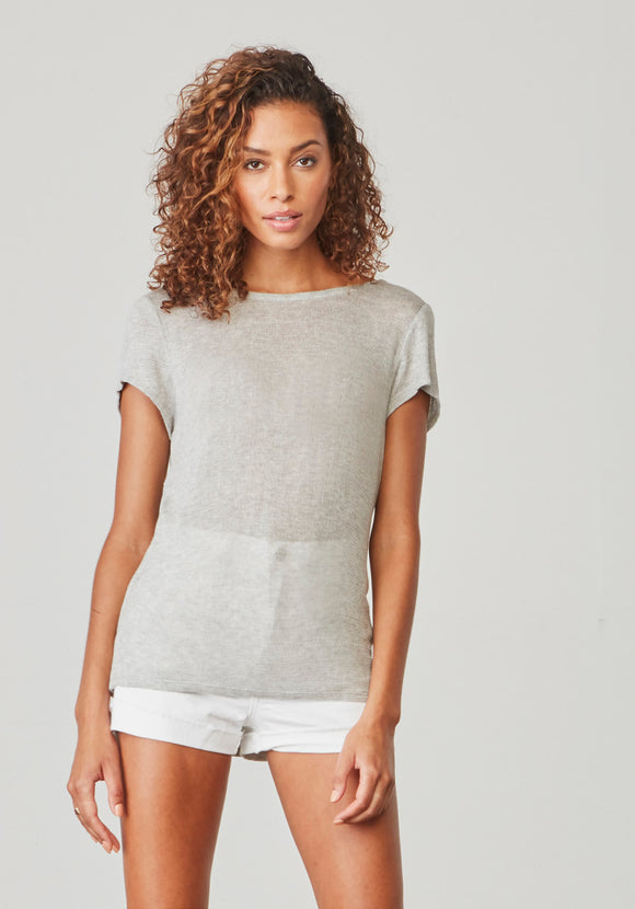 LIGHT HEATHER GREY TOP