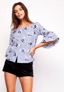 MUY PERFECTO-LIGHT BLUE TOP