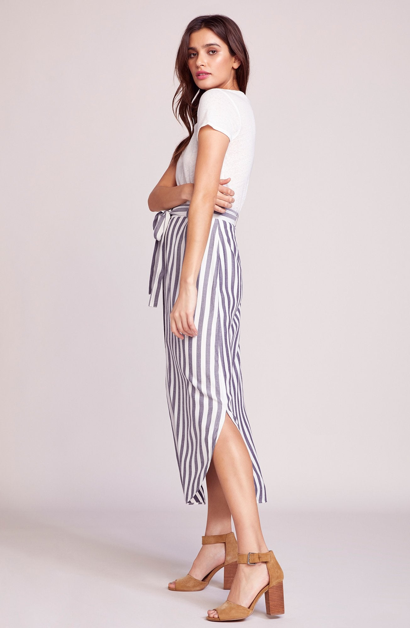BB DAKOTA – STRIPE LIKE NAVY SKIRT