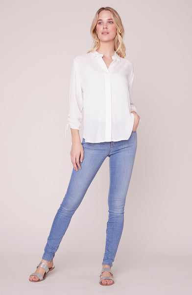 KNOT KIDDING IVORY TOP