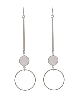 SM COSMOS EARRINGS MOONSTONE