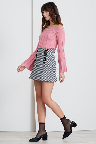 SURRENDER SKIRT BLACK CHECK