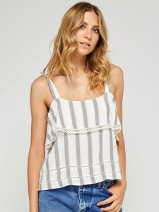 CERRITOS BLUE PLAYA STRIPE TOP