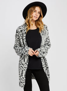 GLADSTONE H.BLACK MIX CARDIGAN