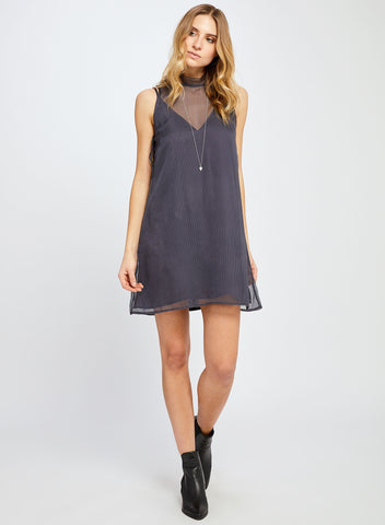ELLEN SHADOW BLUE DRESS