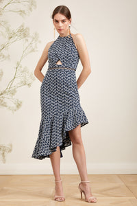 BLOSSOM DRESS NAVY/IVORY