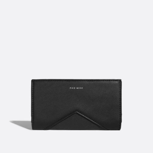 Sophie wallet by Pixie mood in black/nubuck. Wallet, bags, accessories, Blush and Lace, boutique, Oakville, fashion, Milton, Burlington, Toronto, women's.