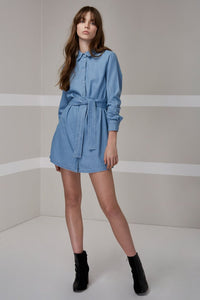 BLUE EYES SHIRT DRESS