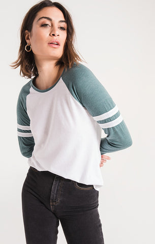 THE VARSITY L/S PACIFIC BLUE TOP